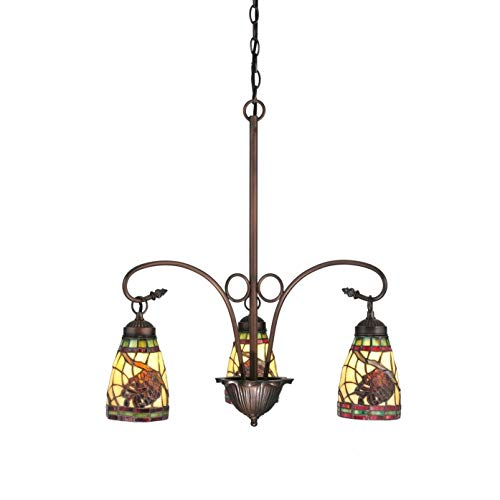 23 Inch Wide Pinecone Dome 3 lt Chandelier