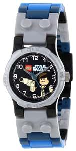 LEGO 9002946 - Reloj para niños de cuarzo, correa de plástico color azul claro