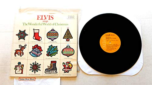 Elvis Presley Elvis Sings The Wonderful World Of Christmas - RCA Records 1971 - 1 Used Vinyl LP Record - 1975 Reissue Pressing ANL1-1936 - Merry Christmas Baby - Silver Bells - Winter Wonderland (Elvis Sings The Wonderful World Of Christmas)