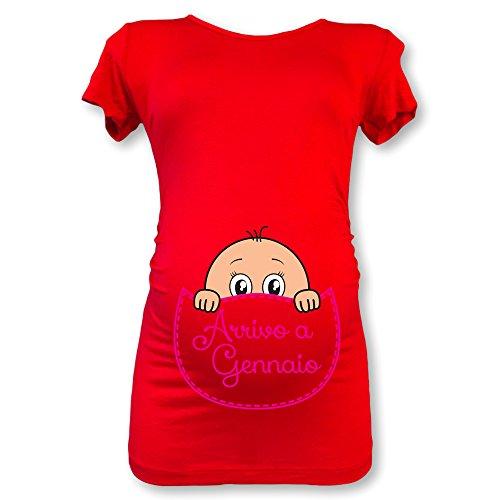 Arrivo Babloo Gennaio A Femminuccia Premaman T In Maglia Rossa Natale Shirt qFqfS