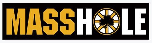 MASSHOLE (Black & Gold) Bumper Sticker