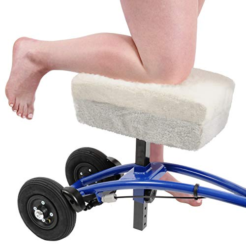 Knee Scooter Comfy Cushion - Two Inch Thick Foam Knee Pad and Cover - Fits Most Knee Walker Models ()