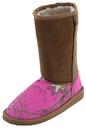 Mossy Oak Women's Dark Pink Camo Bootie Slippers M/7-8