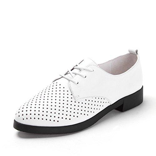 Primavera zapatos simple/Talón del gatito puntiagudos/Con zapatos de boca profunda blanco