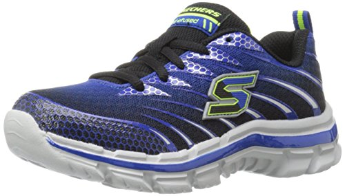 Skechers Kids Boys' Nitrate Sneaker, Royal/Black, 3.5 M US Big Kid
