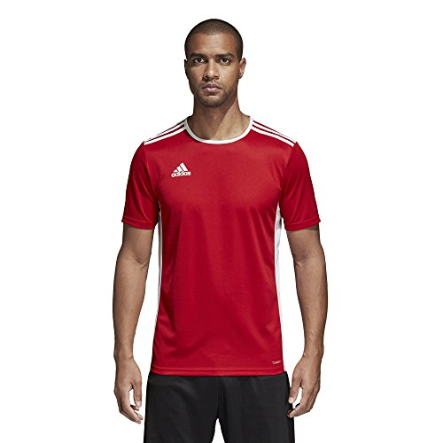 adidas Men's Soccer Entrada 18 Jersey, Power Red/White, Large (Adidas Shirt Futbol)