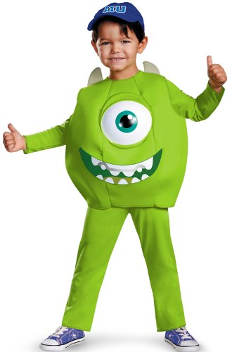 Disney Pixar Monsters University Mike Toddler Deluxe Costume, Medium/3T-4T