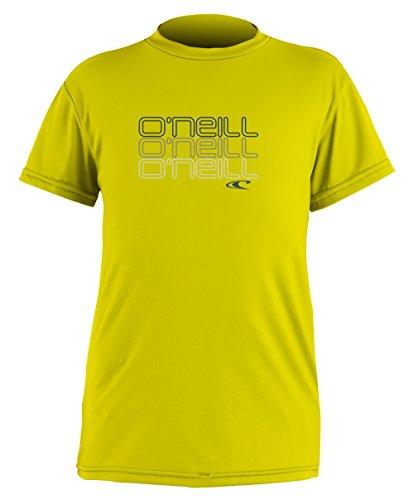 (O'Neill Wetsuits Boys Skins Short Sleeve Rash Tee (Infant/Toddler/Little Kids), Yellow, 1)