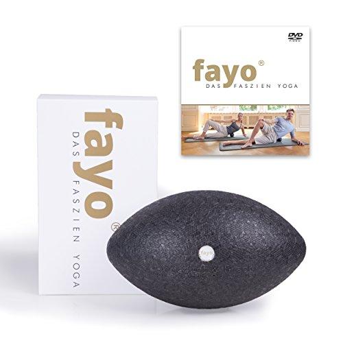 Liebscher und Bracht FAYO Faszienball / Faszienrolle, Ball zur Selbstmassage, zum Faszien-Yoga und Faszientraining, 21 cm, mit Übungs-DVD
