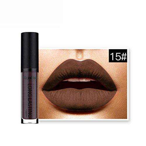 Tenworld 1 PC Waterproof Matte Liquid Lipstick Long Lasting Lip Gloss Lipstick (O) -