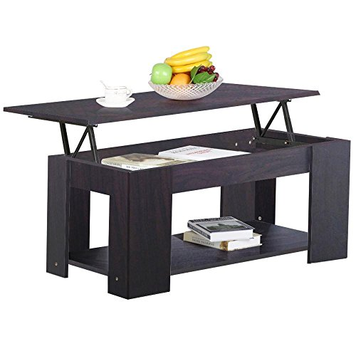 Espresso Coffee Table With Storage: Topeakmart Lift Up Top Coffee Table With Under Storage
