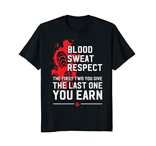 Fighting T-shirt Spirit (Fighting Spirit Blood Sweat Respect Shirt)