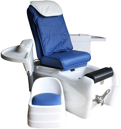 SPA Luxus Fußpflegestuhl mit elektrischer Rückenmassage und Strömungsmassage, incl. Bedienhocker, incl. Kabelfernbedienung, S