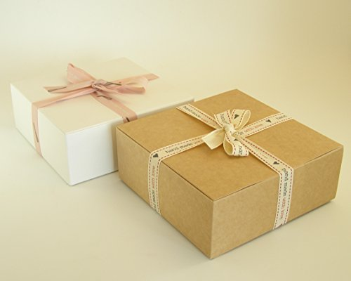 10 scatole di montaggio (#D) perfetto per regalo presentazione articoli da toeletta, cioccolatini, torte, biscotti, alimenti secchi, ceramiche, dolci ecc