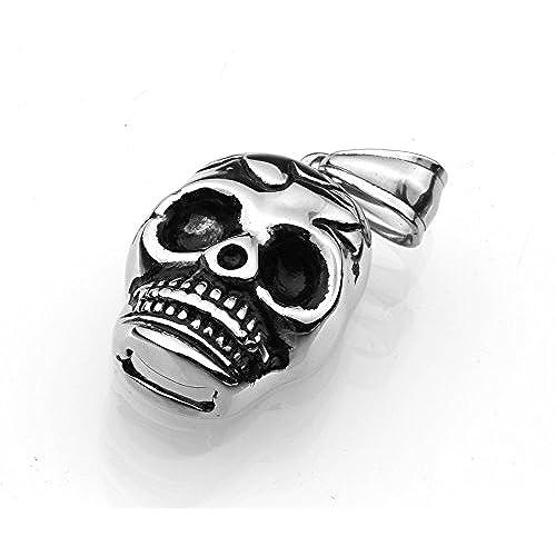 23d458b8342f Colgante de acero inoxidable colgante de acero inoxidable máscara de  calavera para hombre-joyería calavera