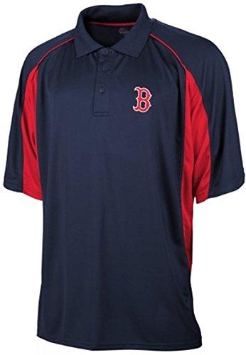 Majestic Boston Red Sox MLB Men's Birdseye Navy Blue Polo Shirt Big & Tall Sizes (6XL)