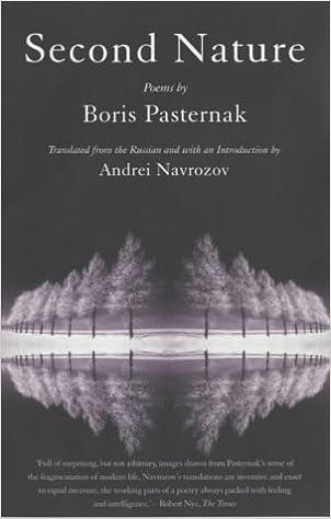Second Nature Poems Of Pasternak Amazoncouk Boris