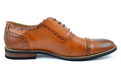 Paires De Rêve Bruno Marc Moda Italy Prince Mens Classique Moderne Oxford Wingtip Dentelle Robe Chaussures Prince-5-brown