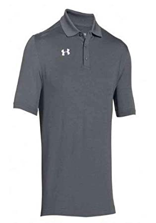 Under Armour Team Armour Mens Golf Polo (Graphite, Large): Amazon ...