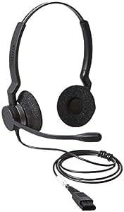 Jabra BIZ 2300 QD Duo Binaurale Diadema Negro, Plata auricular con micrófono - Auriculares con micrófono (Centro de llamadas/Oficina, Binaurale, Diadema, Negro, Plata, Alámbrico, Supraaural)