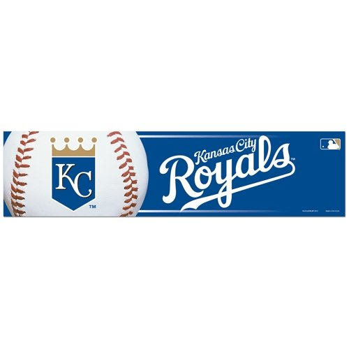 (WinCraft MLB Kansas City Royals Decal3x12 Bumper Strip Decal, Team Colors, One Size)