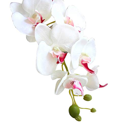 MuLuo Silk Artificial Phalaenopsis Orchid Flower Stem Bouquet Party Home Garden Decor