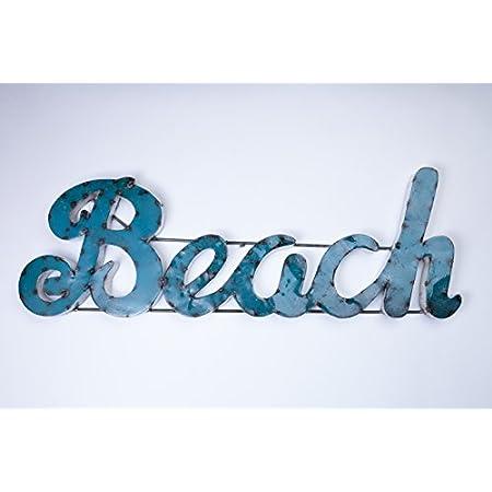 416A7OEmbxL._SS450_ Coastal Metal Wall Art and Beach Metal Wall Decor
