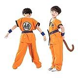 Unisex Child Dragon Ball Z Son Goku Cosplay Costume Kids Halloween Kung Fu Suit