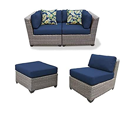 Remarkable Amazon Com Home Square Set Of 3 Patio Wicker Loveseat And Cjindustries Chair Design For Home Cjindustriesco