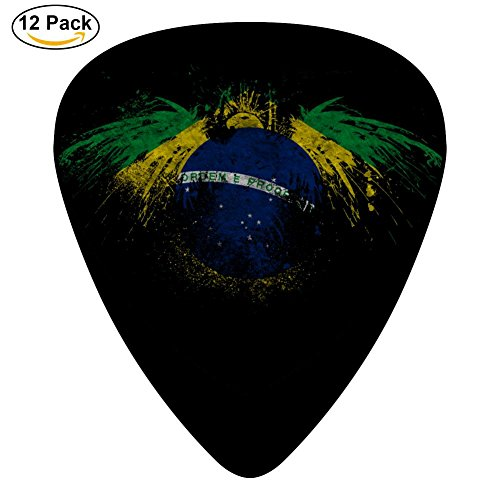 Brasil Eagle Flag 3D Printed Celluloid Guitar Picks Music for Boyfriend 12-Pack Black