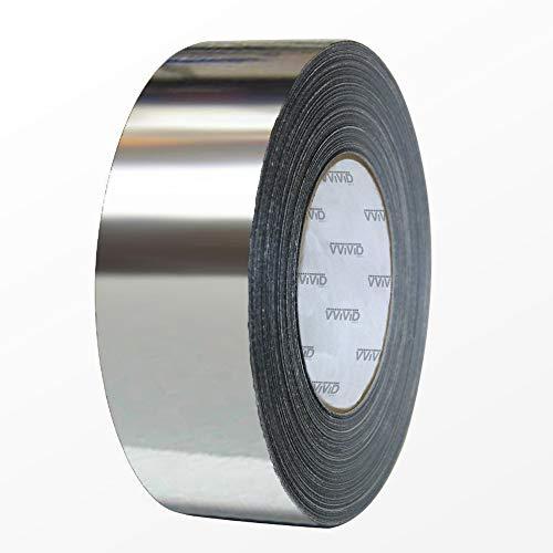 VViViD Gloss Silver Chrome Air-Release Vinyl Adhesive Tape Roll (1