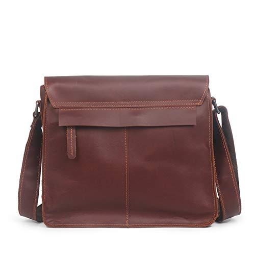 Main Bandoulière Sac Brown1 Cuir color À En Véritable Waveni Vintage Brown1 Pour Homme xEIwqnFqf