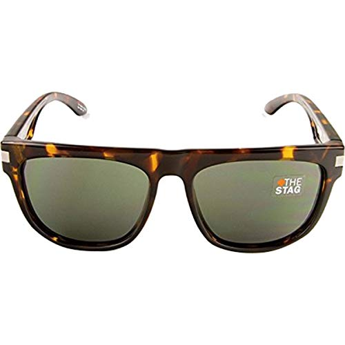 Spy Optics Stag Vintage Tortosie - Grey Green Round Sunglasses,Tortosie,58 mm