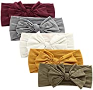 Mookiraer Baby Girl Nylon Headbands Newborn Infant Toddler Hairbands and Bows Child Hair Accessories