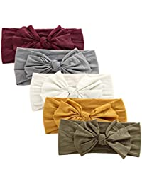 Baby Nylon Elastic Knotted Headbands Baby Head Wraps Baby Headbands Bows