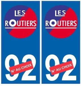 arrondis Angles Les routiers num/éro au choix sticker autocollant plaque blason armoiries stickers d/épartement