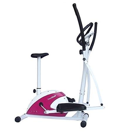 Bicicleta Elíptica-Dual, bici estática, bicicleta indoor, ideal para cardio, pulsómetro digital en manillar.: Amazon.es: Deportes y aire libre