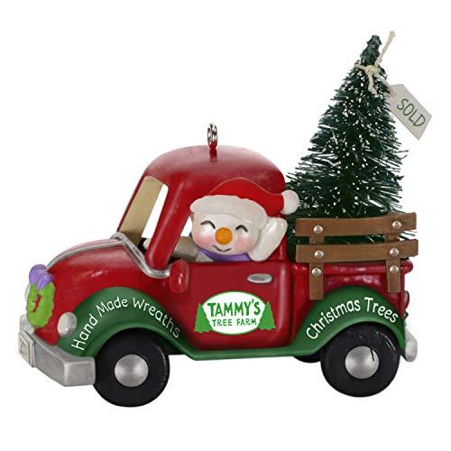 (Hallmark Keepsake Ornament 2019 Year Dated Holiday Parade Snowman Driving Christmas Tree Truck,)