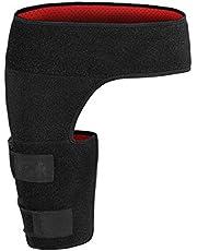 Compression Brace for Hip Adjustable Groin Wrap Black Adjustable Groin Brace Wrap Thigh Support Pain Relief Strain Neoprene Hip