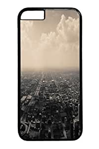City Aerial View Polycarbonate Hard Case Cover for iphone 6 4.7 inch Black