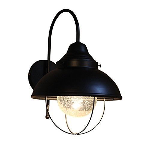 Loft Creative Bedroom Bedside Wrought Iron Wall Lamp, Industrial Wind Bar Wall Lamp, European and American Style Aisle Corridor Single Head Wall Lamp