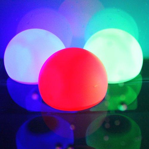 (AGPTEK Orb Multi-Color LED Ball Light, RGB-Colors Floating Waterproof Mood Light for Garden Decoration/Pool/Pond/Party (Pack of 1))