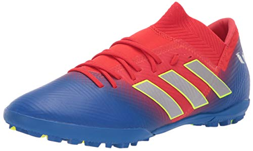 (adidas Men's Nemeziz Messi 18.3 Turf, Active red/Silver Metallic/Football Blue, 8 M US)