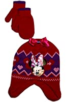 Disney Little Girls Minnie Mouse Cold Weather Set - One Size Fits Most