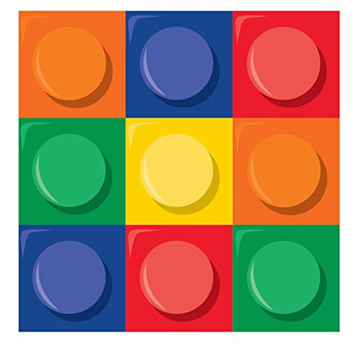 Creative Converting Block Party Beverage Napkin (16 Count) ()