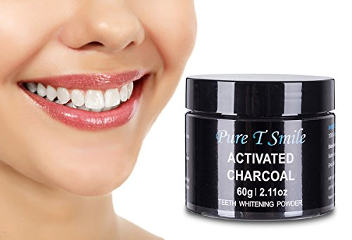 Pure T Smile 100% Natural Activated Charcoal Powder Teeth Whitener Toothpaste Powder