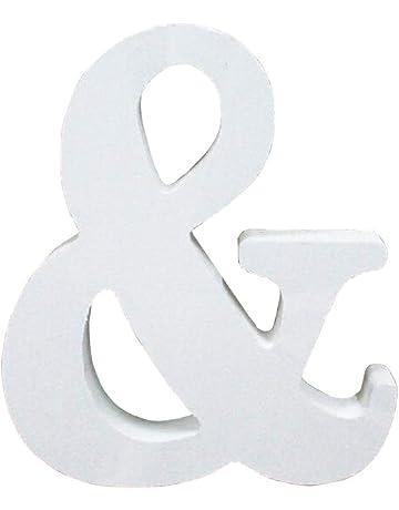 Letras de Madera, Toifucos A-Z 10cm DIY Madera de Alfabeto Inglés Adornos artesanales para Casa