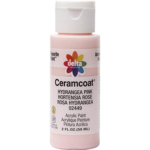Delta Creative Ceramcoat Acrylic Paint in Assorted Colors (2 oz), 2449, Hydrangea Pink