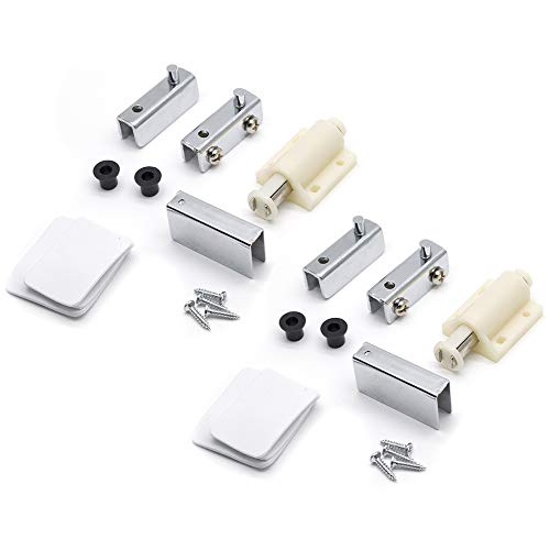 (Autoly Cabinet Single Head Magnetic Touch Catch Latch Clamp Set Glass Door Pivot Hinge (2 Set))
