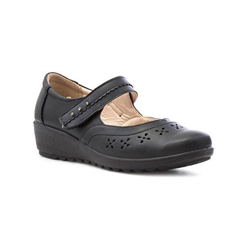 Cuscino Da Passeggio Per Donna Black Bar Casual Shoe Nero